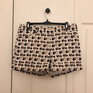 White House Black Market Shorts - White House Black Market Brown/Black Printed Short